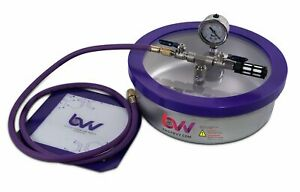 Bvv 1 Gallon Flat Stainless Steel Vacuum Degassing Chamber