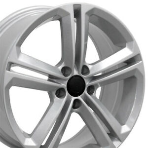 18 Wheels Fit Vw Gti Jetta Eos Cc Passat Silver 69924 W1x Set