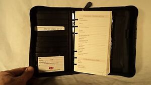 Ili Amz 41 Black Leather Zippered 6 ring Planner