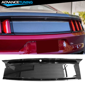 Fits 15 18 Ford Mustang Trunk Decklid Cover Panel Carbon Fiber Print