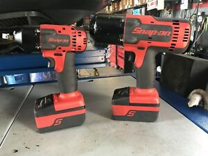 Snap On 3 8 And 1 2 Cordless Impact Wrench Bundle 3 Batteries And One Charger