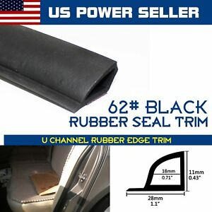 80ft Auto Parts Accessory Car Door Seal Rubber Trim Edge Vinyl Weather Stripping