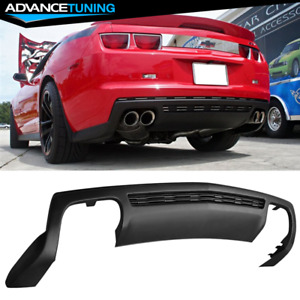 Fit 10 13 Chevy Camaro Zl1 Style Rear Diffuser Spoiler Lower Cover Unpainted Pp