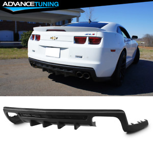 Fit 10 13 Camaro Zl1 Only Ikon Style Shark Fin Rear Bumper Diffuser Unpainted