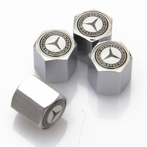 Universal Car Auto Tyre Valve Caps Stems Tire Dust Covers Fit For Mercedes Benz