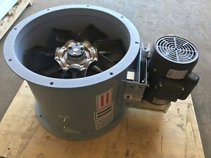 12 Dia Tube Axial Exhaust Fan For Paint Spray Booth Three Phase 230 460 V
