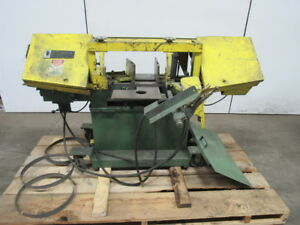 W f Wells Model L9 3 4hp Horizontal Band Saw 9 X 16 208 230 115v 1ph