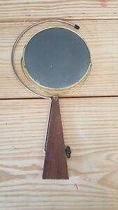 Antique Folding Vanity Travel Mirror Collapsible Stand Double Sided Wood