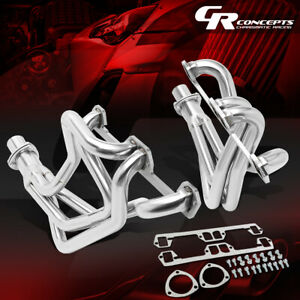 Long Tube Exhaust Header Manifold W collector For 72 91 Dodge D w series 5 2 5 9