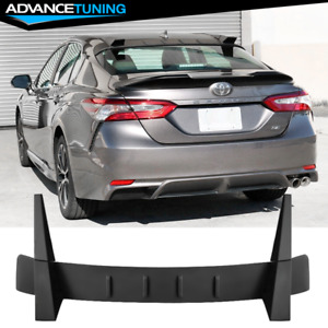 Fits 18 20 Toyota Camry Roof Spoiler Wing Matte Black