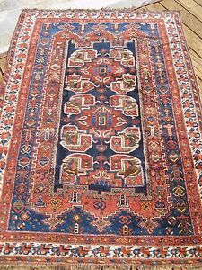 1890 1900 Antique Persian Afshar Rug Exceptional Piece Great Colors