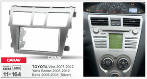 Carav 11 164 Car Stereo Radio Fascia Plate Panel Frame For Toyota Vios belta