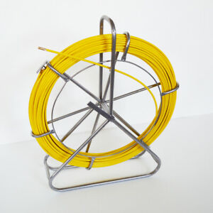 New 8mm Fish Tape Fiberglass Reel Wire Cable Puller Duct Rodder 170547