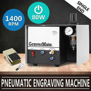 Us Shipping Pneumatic Engraving Machine Jewelry Engraver Single Ended