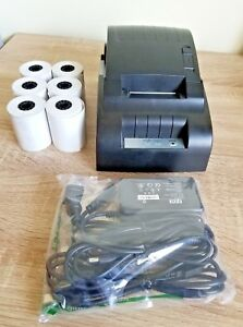 Usb Mini 58mm Thermal Receipt Printer Set Roll Paper Supermarket Tested