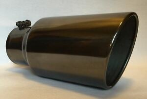 4 Inlet X 6 Outlet X 12 l Black Chrome Diesel Exhaust Tip Ford Chevy Dodge