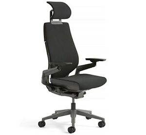 Steelcase Gesture Office Chair With Headrest Black Lightly Used