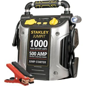 Battery Jump Starter 1000 Peak Portable Car Charger Booster Stanley 12 Volt Usb