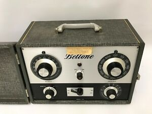 Antique Beltone Model 10c Audiometer Hearing Aid Co With Headphones