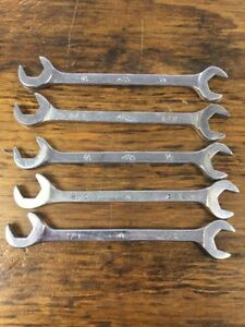 Lot Of 5 Mac Tools Da16 1 2 Four Way Angled Open End Wrenches