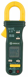 Greenlee Textron Cm 450 600a Ac True Rms Professional Clamp on Meter