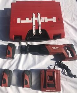 Hilti Wsr 18 a Cpc Cordless Reciprocating Sawzall And 3 Batteries works Good