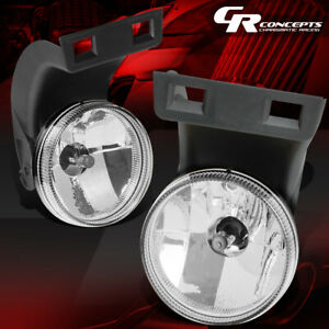 Left right Clear Front Bumper Driving Fog Light lamps For 94 98 Dodge Ram Truck