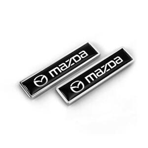 New 1 Pair Car Side Emblem Badge Sticker Decal Accessories Fit For Mazda 3 5 6