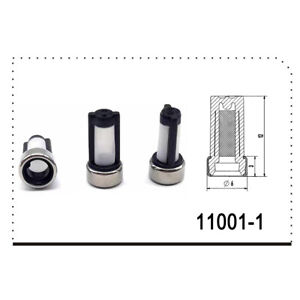 50 Pcs Fuel Injector Nozzle Micro Filter For Injector Repair Kit Stainless Steel