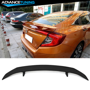 Universal Fitment Trunk Spoiler Wing With 2 Posts Led Turn Signal Light