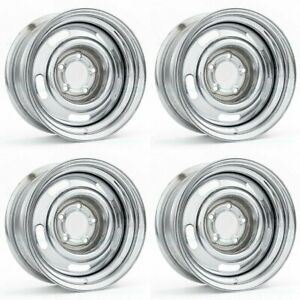 4x Vision 15 57 Rally Wheels Chrome 15x7 5x4 5 5x114 3 5x4 75 5x120 65 6mm