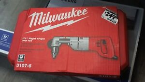 Milwaukee 1 2 Right Angle Corded Drill Kit 3107 6
