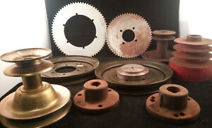 Vintage Large Used Lot Gear Industrial Metal Parts Steampunk Pulley l20