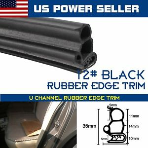 32ft Black Seal Edge Trim Rubber Strip Universal Car Auto Van Trailer Protector