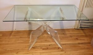 Mid Century Modern Leon Frost Lion In Frost Inspired Butterfly Lucite Table