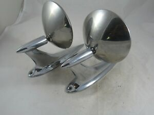 Vintage Pair Of Car Exterior Mirrors 1950 s 1960 s Ford Chevy Dodge Plymouth