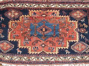 Antique Exceptional 1900 Mafrash Bag Face With Great Colors