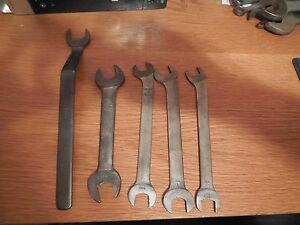 5 Vintage Bonney Wrenches 4 Open End And 1 Single Open End Free Usa Shipping