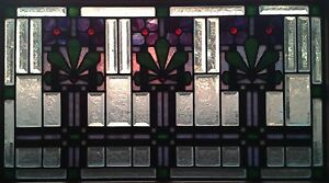 Art Deco Leaded Stained And Beveled Glass Window