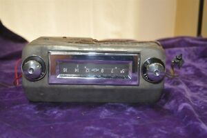 Old Vintage Radio 55 Chevy 12 Volts 1950 s Original Rare Tube Untested
