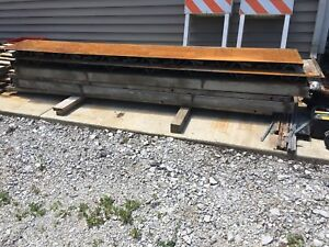 18 Steel Concrete Curb Forms 8 Total 4 Radius 4 Straight