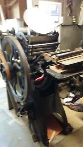 1911 8 X 12 Golding Jobber Letterpress Printing Equipment