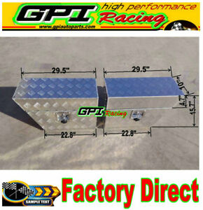 30 X10 X 16 Pair Aluminium Undertray Under Tray Underbody Ute Tool Box