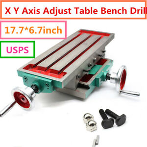 2 Axis Milling Machine Vise Fixture Precision Work Table For Bench Drill Promoti