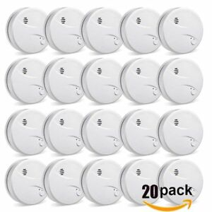 Lot Independent Photoelectric Smoke Detector Fire Alarm Battery powered 10 Yr Oy
