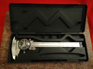 Starrett 120 Dial Caliper Stainless Steel Black Face 0 6 Range 001