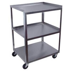 3 shelf 30 h Stainless Steel Utility Cart
