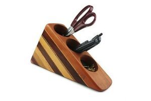 Vintage Wood Desk Organizer