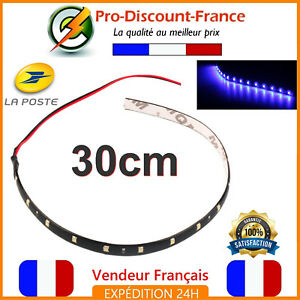 Led Strip Lights Blue Adhesive Car Motorrad Truck Scooter 30cm Ribbon Flexible