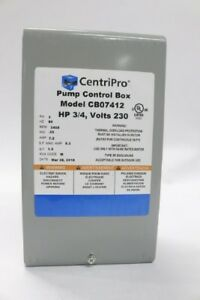 Centripro Pump Control Box 3 4hp 1ph 60hz 230v Cb07412